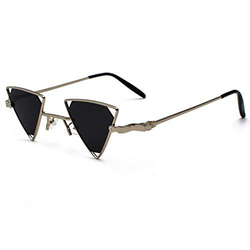 acsefire Gafas de sol retro hippie gafas de sol Steampunk triangulares huecas no polarizadas para hombres y mujeres con protección UV400