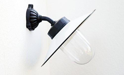 Außenleuchte nach historischem Modell Gartenlampe Hoflampe Außenlampe Landhausstil Modell Winkl weiß