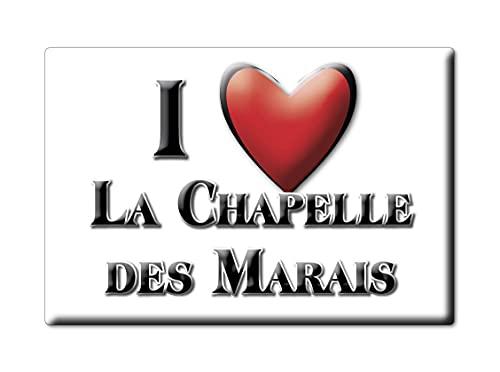 Enjoymagnets LA CHAPELLE Des Marais (44) Souvenir IMANES DE Nevera Francia Midi PYRÉNÉES IMAN Fridge Magnet Corazon I Love
