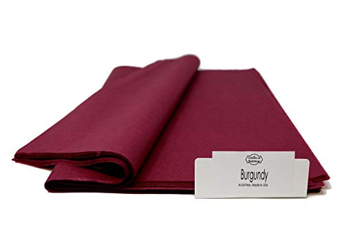 ColorsOfRainbow | Gift Wrapping Tissue Paper for Gift Bags, Paper Flower, Party Decoration (Burgundy)
