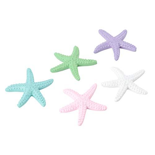 LIOOBO Resin Sea Star Ocean Beach Ornaments Natural Sea Star for Aquarium Fish Tank Decorations Beach Wedding Party Decor DIY Crafts 10 Pcs