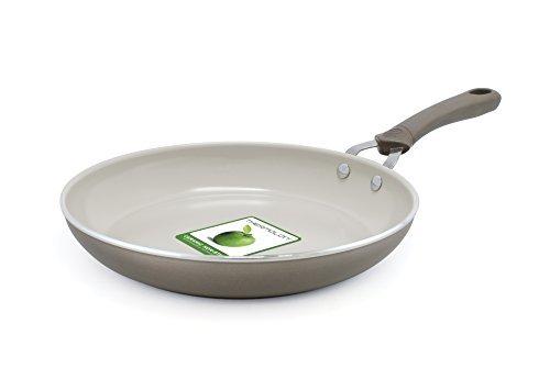Trisha Yearwood Cottage precious Metals 25,4cm padella in ceramica antiaderente, Titanium by The Cookware Company