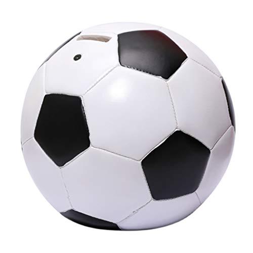 WPBOY Hucha De Fútbol Hucha para Niños Hucha De Gran Capacidad Regalo para Niños con Apariencia De Fútbol (Resina)
