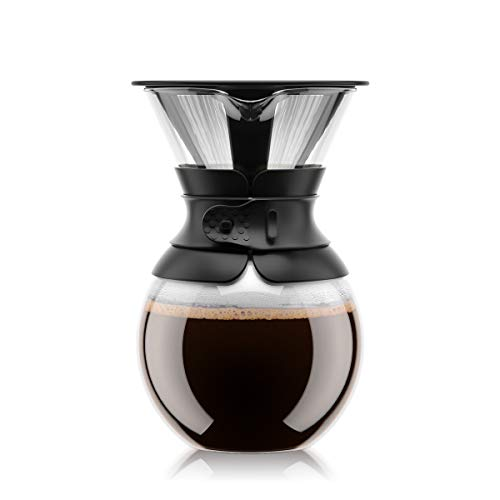 BODUM Pour Over Coffee Maker with Filter, Borosilicate Glass