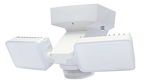 Twin LED Lights with 1425 Lumens & 180? Motion Sensor (White)