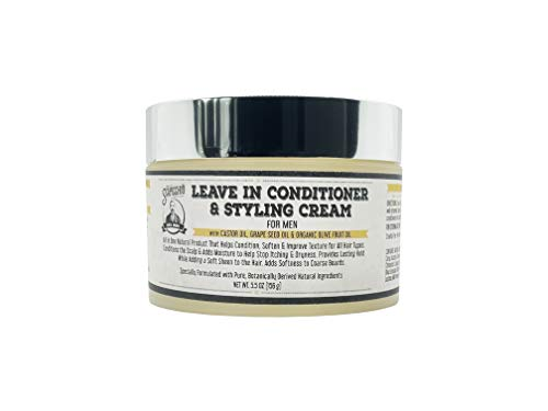 Leave in Conditioner & Styling Cream By Scapicchio – Deep Conditioner and Hair Styling Cream for Men with Organic Olive Oil, Grapeseed Oil and Caster Oil