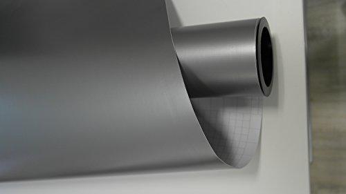 vinie Silber Grau Matt Autofolie 400x152cm Blasenfrei mit Luftkanäle Gratis Montageanleitung 6,49€/1qm