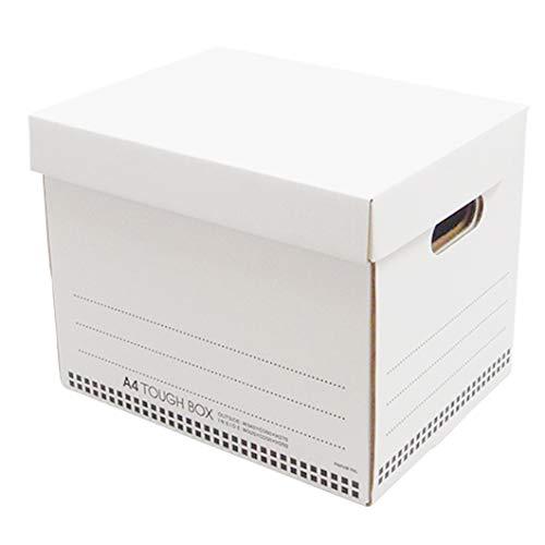 タフボックスS【A4対応】ホワイト 10枚セット (文書保存箱 収納ボックス ダンボールボックス ストレージボックス 段ボール 白)