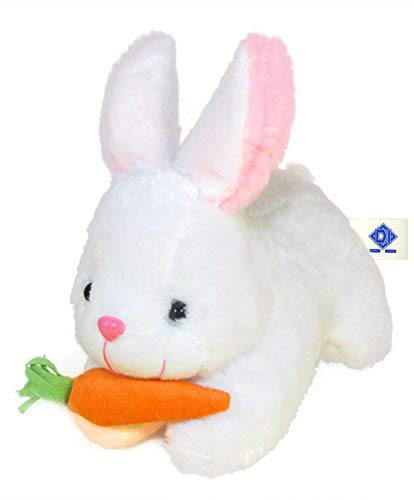Deals India Rabbit with Carrot Stuffed Soft Plush Toy, White (26 cm)