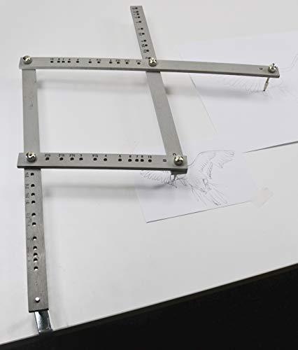 GRAPHOPLEX - Pantografo in legno, 35 cm, colore: Grigio, GX41885