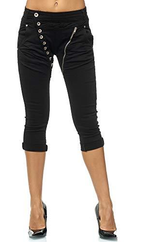 Elara Dames 3/4 Jeans Slim High Waist Capri broek Chunkyrayan