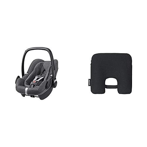 Maxi-Cosi Silla de Coche para Bebé Pebble Plus Grupo 0+, Silla de Coche ISOFIX, i-Size, 0-12 m, 0-13 kg, 45-75 cm, Sparkling Grey (gris) + Dispositivo antiabandono para silla de coche