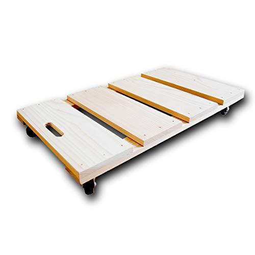 【木製(国産杉製) すのこキャスター】(Lサイズ:W35cm×D60cm×H7.5cm)すのこ 押入れ収納 キャスター付き ふとん収納 杉 布団収納 押し入れ収納 収納棚 押入れ有効活用 クローゼット すのこ布団収納ラック 収納ラック 収納ケース スライド
