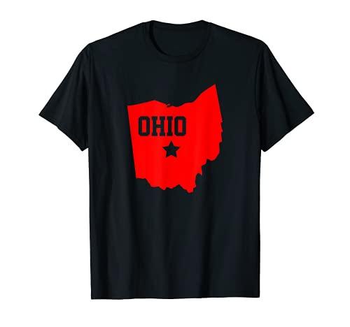 Proud Buckeye State Silhouette I Love Ohio Home Souvenir Camiseta