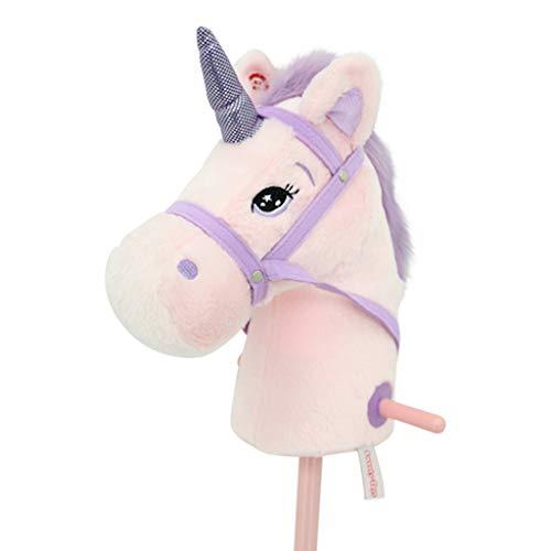 Sweety Toys 10547 Einhorn Steckenpferd Pink Rosa mit Funktion Gewieher...