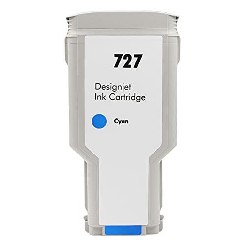 VDFHB 727 Cartucho de Tinta Plotter, Compatible con HP T920 / T1500 / T2500 / T930 / T1530 / T2530 Tinta de Plotter Blue