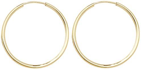 9ct Gold Ladies Hoop Earrings - 25mm WJS3858