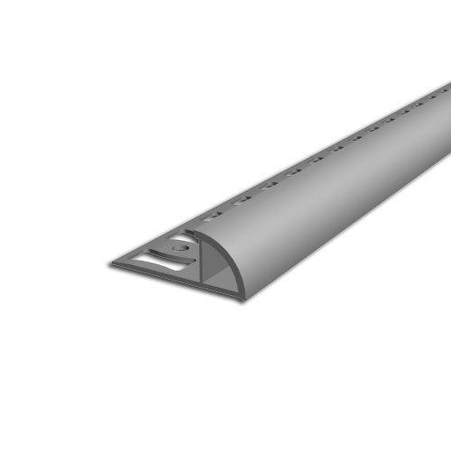 Viertelkreis Abschlussprofil Aspro, 10mm, Grau L4, 2,5m