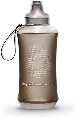 Hydrapak Bouteille d'eau Flexible, Mammoth Gris, 500 ML