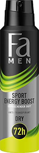 Fa Men Anti-Transpirant Deospray Sport Energy Boost mit erfrischendem Duft, 72h Schutz, 150 ml