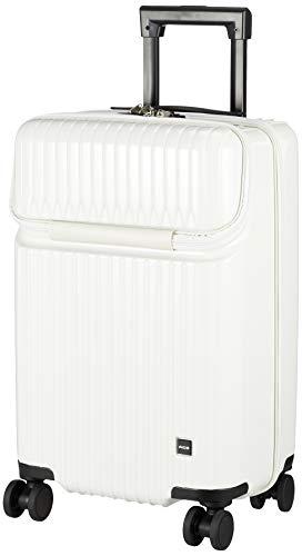 [エース] スーツケース タッシェ キャスターストッパー フロントポケット 機内持ち込み可 34L 50 cm 3.3kg ホワイト