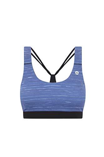 Ykile Svadhistana Sujetador Deportivo, Azul, XS para Mujer