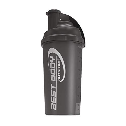 Best Body Nutrition Eiweiß Shaker 700ml, black steel