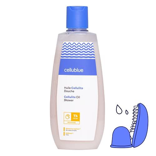 Cellublue Huile Douche Cellulite | Huile lavante Efficace contre la Cellulite et la Peau d'Orange - 200 ml