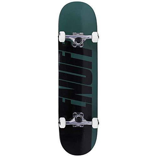Enuff Skateboards Half Stain Complete Skateboard, Unisex Erwachsene, Unisex, ENU3100, Grün (Green), 8''