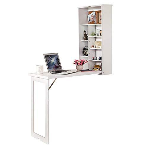 HAOT Wandtisch,Klappbarer Drop-Leaf-Tisch an der Wand, Hochleistungs-Wandhalterungstisch aus Massivholz Küchen- und Esstisch Schreibtisch Computertisch Trestle Desk