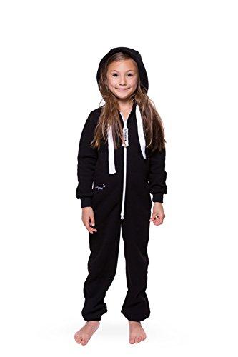 Jumpster Jumpster Jumpsuit Kids Jungen Mädchen Unisex Kinder Overall Onesie All Black Schwarz M (134-140)