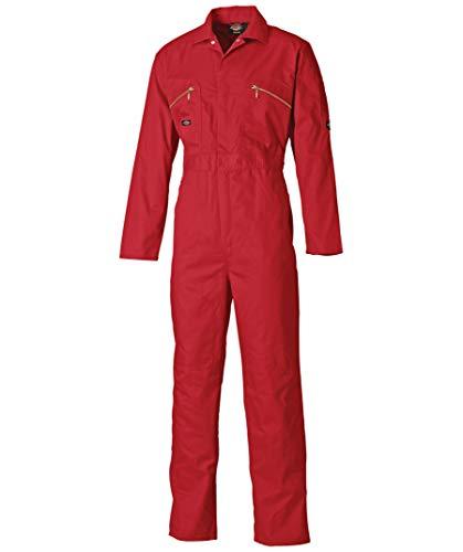Dickies Redhawk Mono de trabajo, 1 pieza, con cremallera frontal rojo 52