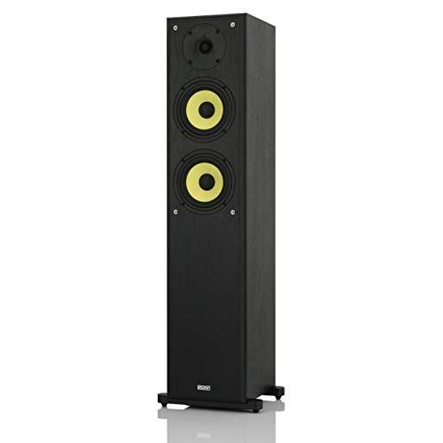 mohr 1 Stück SL20, Standlautsprecher, Lautsprecherboxen, wavecor Hochtöner, Tieftonmembran aus Polyamid, HiFi Standboxen, schwarz