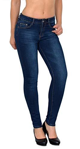 ESRA Damen Jeans Jeanshose Damen Skinny High Waist Hochbund Hose bis Übergröße S200