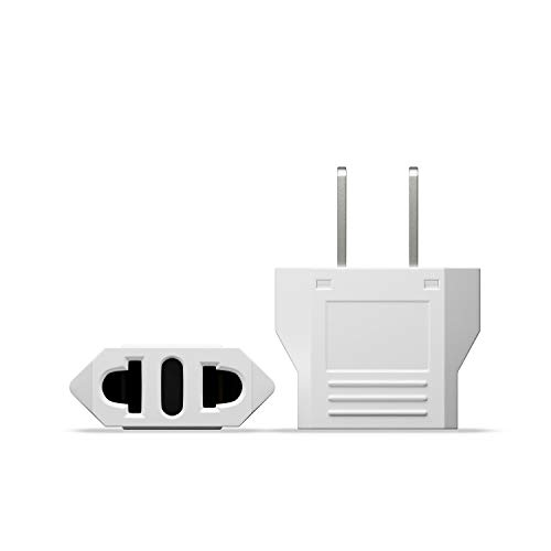 Unidapt EU Europe to US USA Travel Plug Adapter Power Converter AC (Pack of 2)
