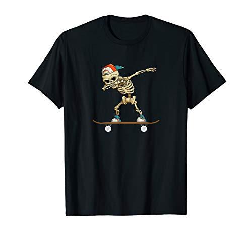 Dabbing Skelett Skater Geschenk T-Shirt
