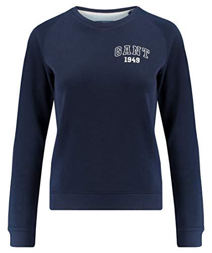 GANT Women's Md. The Summer Logo C-Neck Sweat Sweatshirt