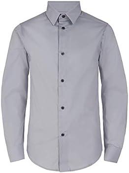 Calvin Klein Boys' Slim Fit Button Down Dress Shirt