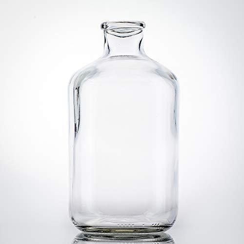 Flaschenbauer - Exklusive Spardose Glas 1l mit innovativen Münzschlitz - Große Spardose Sparflasche ohne Deckel zur einfachen Münzentnahme durch Spezial-Mündung - Ihr großes Sparschwein
