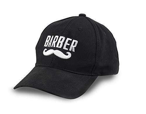 Boné de beisebol bordado com logotipo da Barber Flexfit tamanho único, Barber Mustache, Medium