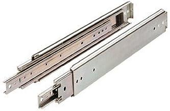 Drawer Slide, Full Extension, 40 in, Heavy Duty, 500 lb. Capacity, Zinc