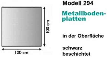 120x130 cm Rundbogen Lienbacher Metallbodenplatte,St/ärke 1,5 mm anthrazit