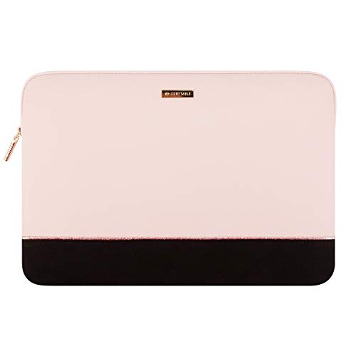 Comfyable Laptop Sleeve Compatible with 13-13.3 Inch MacBook Pro & MacBook Air- Water Resistant Cover Computer Case for Mac- Pink & Black
