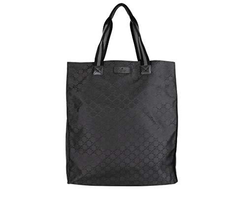 Gucci Men's Black Nylon Tall Tote Travel Bag 449177 8615
