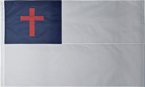Green Grove Products Christian Flag 3' x 5' Ft 210D Nylon Premium Outdoor Embroidered Flag
