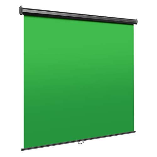 Neewer Fond Vert MT - Ecran Rétractable ChromaKey pour Suppression d'Arrière Plan, 1,5x1,8m, Toile Infroissable, Etui Solide Aluminium pour Photo Vidéo Jeux en Direct, Studio Virtuel