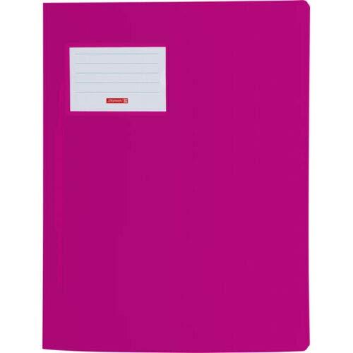 Brunnen 102015026 Schnellhefter FACT!pp (A4, aus transluzentem PP, mit Namensschild, mit Einstecktasche innen) pink