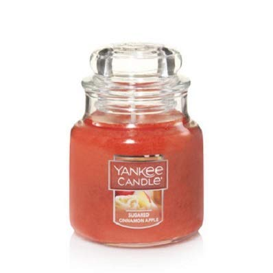 Yankee Candle Sugared Cinnamon Apple Small Jar Candle, Fruit Scent