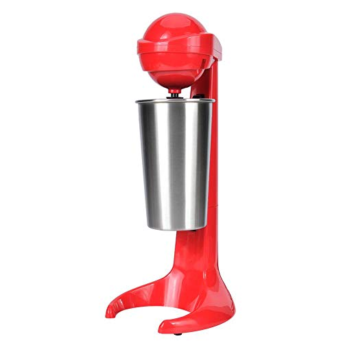 banapoy Smoothie Milkshake Maker, Double Head Electric Personal Blender Smoothie Maker, for Milk Shakes, Coffee, Cocktails, Baby Food (Red)(UK)