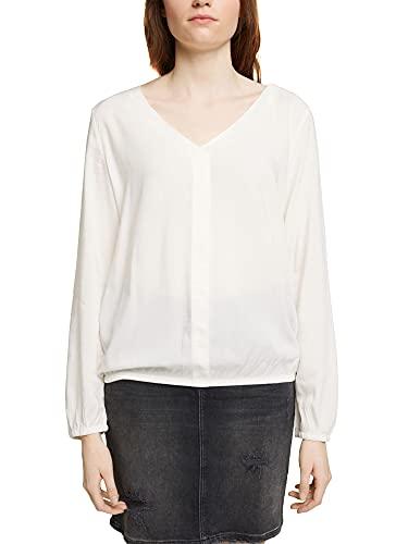edc by ESPRIT Damen 991cc1f313 Bluse, Off White, XL